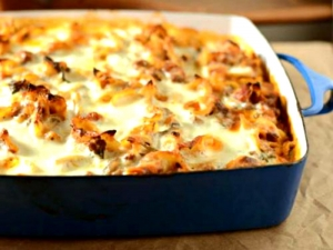 A Healthier Version Of  Cheesy Italian Beef Bake