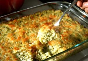 Green Rice Souffle