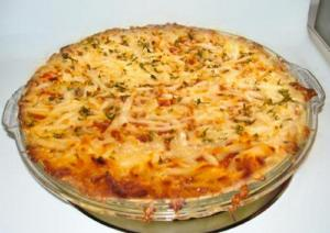 Turkey Sausage Spaghetti Pie