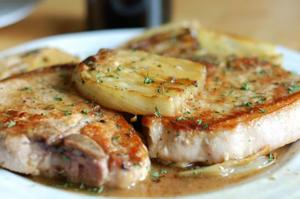 Vermouth Braised Pork Chops