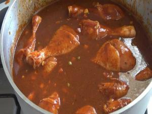 Chile Colorado Style Chicken Stew
