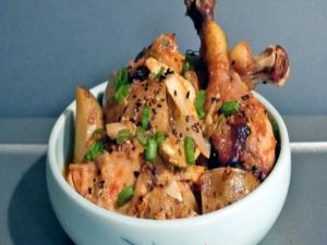 Korean Food: Kimchi Braised Chicken