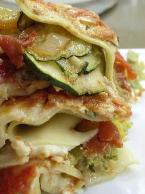 sauted vegetables add the extra crunch and flavor to lasagna