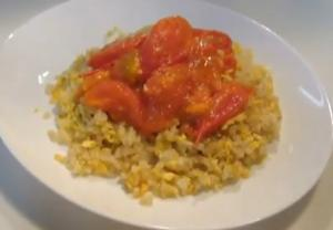 Garlic Fried Rice with Tomato