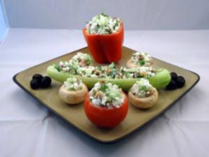 Cottage Cheese Vegetable Summer Salad