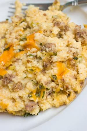 Country Grits And Sausage Casserole