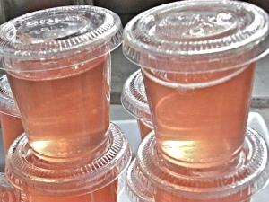 Pink Nuvo Jello Shots