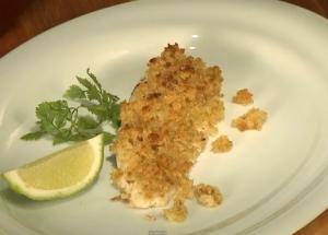 Snapper Topped With Lime & Ginger Crumble