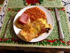 Kipper And Mushroom Omelette