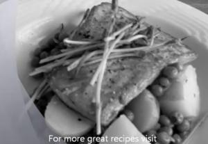 Seared Salmon with New Potatoes & Spring Peas