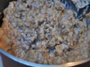 Breakfast at the Snow's House in Western Montana-Steel Cut Oatmeal