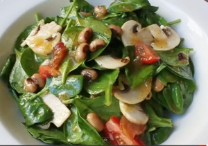 Classic Beans & Greens Spinach Salad