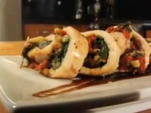 Spinach And Pine Nut Stuffed Chicken
