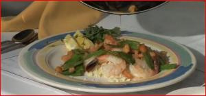 Sauteed Shrimp with Peas and Couscous