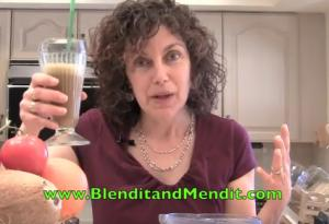 Vegan Mint and Greens Blended Smoothie