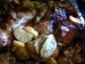 Grilled Chicken with Potato and Zucchini