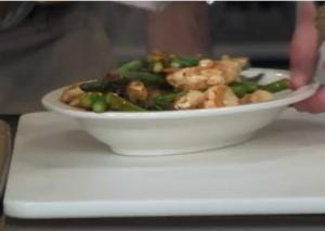 Chicken Asparagus and Pistachio Stir-Fry