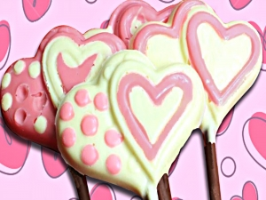 How To Make Chocolate Heart Lollipops