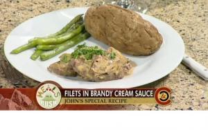 Beef Fillet in Brandy Cream Sauce