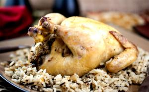 Cornish Hens With Wild Rice