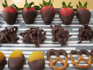 Fruit and Nut Chocolate Candies