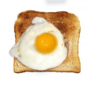 Sunnyside Eggs On Toast