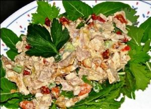 Smoked Turkey Salad with Dried Cranberries