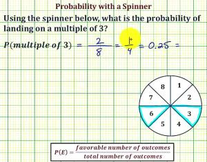 Find The Probability Of Landing On A Multiple Of 3 Using A Spinner