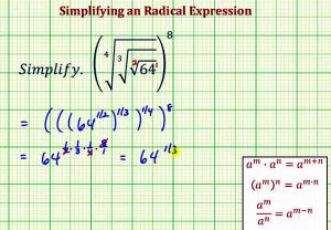 Simplify A Radical Expression With Radicals Inside Radicals