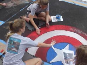 Watch Your Feet In Florida For The Street Painting Fest