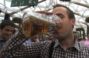 Beer Slamming Tourists Give Verdict On Oktoberfest