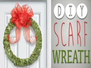 Scarf Wreath 8 Th Diy Of Christmas