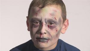 How To Do Zombie Face Paint 10035026 By Videojug