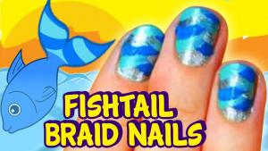 Fishtail Braid Nail Art