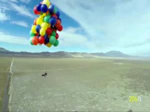712732 Man Parachutes Off Lawn Chair Airlifted By Helium Balloons
