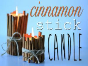 Cinnamon Stick Candle 7 Th Diy Of Christmas