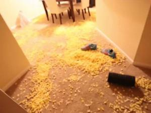 Nba Team Pranks Rookie By Filling His Apartment With Popcorn