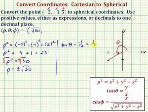 Convert Cartesian Coordinates To Spherical Coordinates