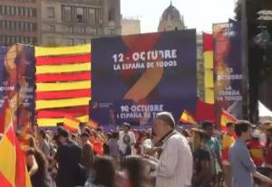 Thousands Join Anti Independence Rally In Barcelona