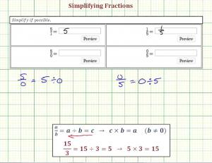 Simplify Basic Fractions Including Division By Zero