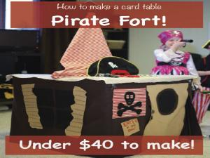How To Make A Card Table Pirate Ship Fort