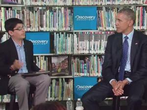 Kid Cuts Off President Obama During Interview