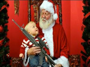 Santa Photos With Guns At Atlanta Gun Club
