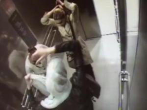 Cctv Footage Shows Thieves Changing Disguises In Store Elevator