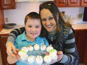 Bettys Daughter And Grandson Decorate Easter Eggs Easter