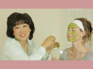 Cilantro Sticky White Rice Face Mask