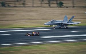 F 1 Car Vs F 18 Hornet Fighter Jet