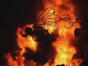 Valencia In Flames For La Crema Fire Festival