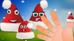 Santa Claus Hat Finger Family