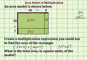 Write A Multiplication Expression From An Area Model